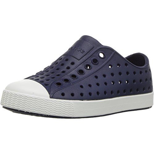 native Kids Jefferson Junior Water Proof Shoes, Regatta Blue/Shell White, 2  Medium US Little Kid | Native shoes, Slip on sneaker, Kids shoes