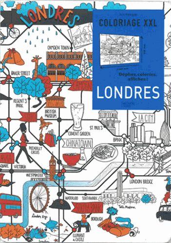 Londres. Coloriage XXL