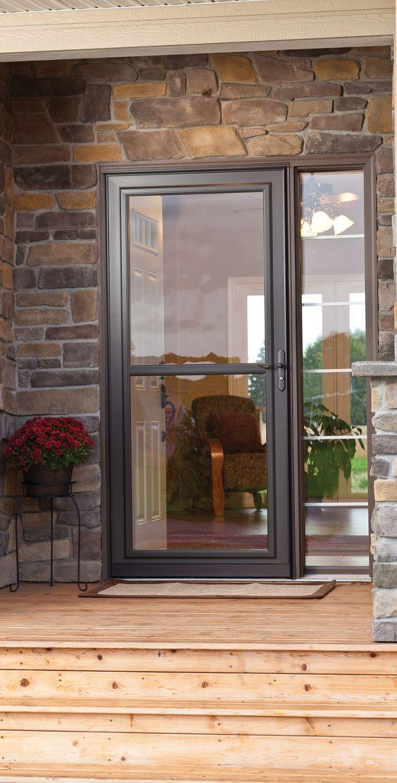 Unlike Some Other Exterior Doors The Larson Lakeview Screen Away Is A Storm Door And A Screen Door All In O Exterior Doors Front Entry Doors Glass Screen Door