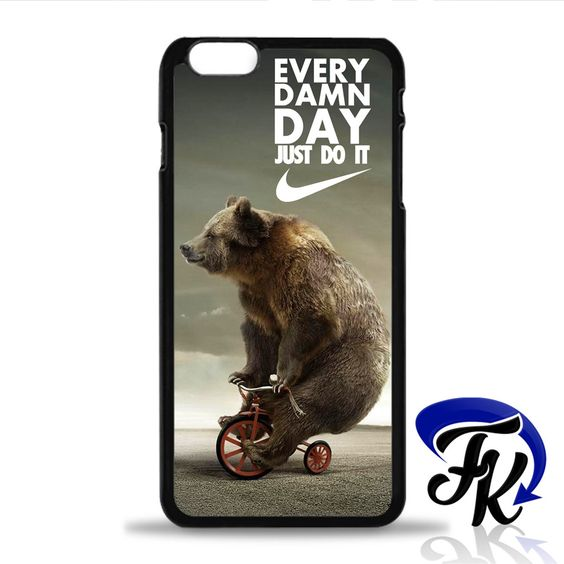 Just Do It Funny Bear Phonecase, Case, Cover Plastic and Rubber for Plastic and Rubber for Samsung Galaxy Cases, iPhone Cases, iPod Cases