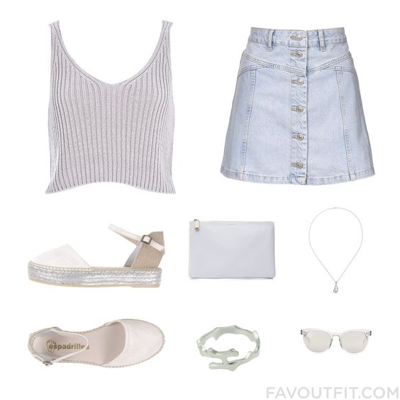 Look Things Featuring River Island Top Topshop Espadrilles Sandals And Jil Sander From February 2016 #outfit #look