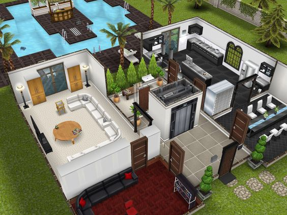 Pics For Sims Freeplay Player Designed House Winner