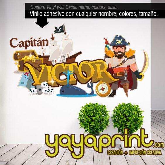 Decoraci n con tu nombre y pirata victor vinilo graffiti for Graffitis para ninos