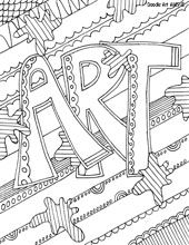 school subject coloring pages- could use these to organize folders, or as dividers in a binder