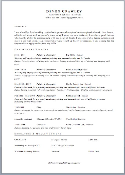 HR Consultant Resume resume Pinterest Sample resume - a proper resume