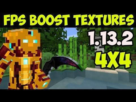 How To Get Fps Boost Texture Pack In Minecraft 1 13 2 Download Install 4x4 Resource Pack Texture Packs Fps Minecraft 1