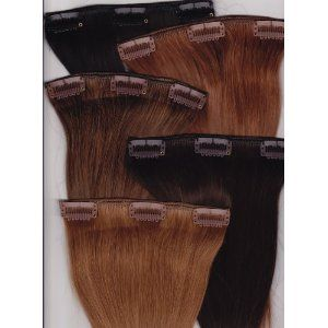 """14"""" Silky Straight 100% Human Hair Clip On In Extensions"""