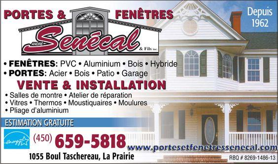 Installation porte-fenêtres La Prairie, Prix pour Portes et Fenetre