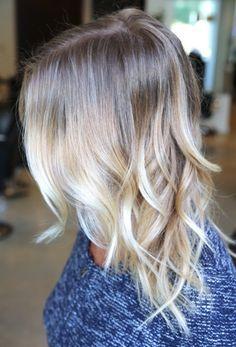 ombré hair blond platine , Google,Suche