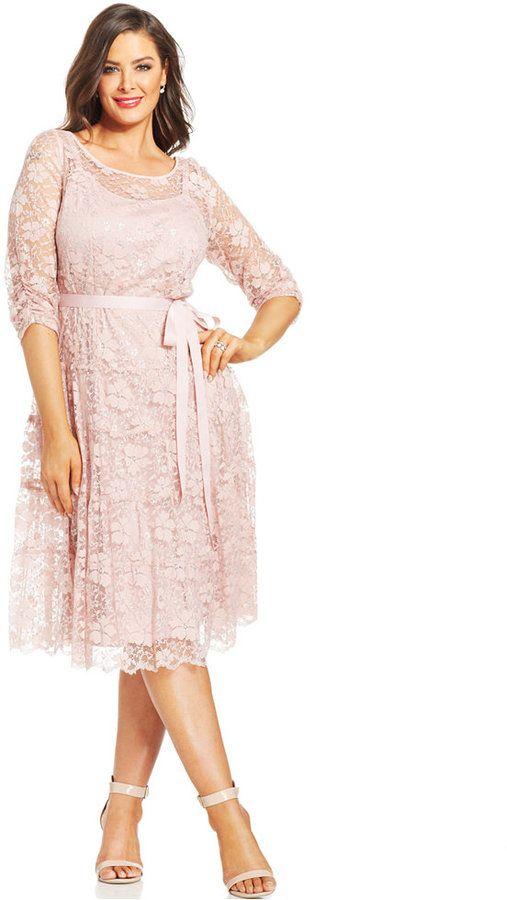 plus size cocktail dress plus size metallic lace ribbon
