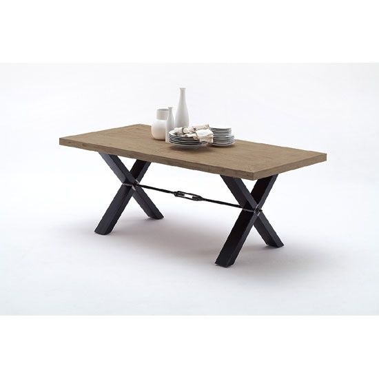 Eckbank Set Modern : Gavi Acacia Grey Wooden Dining Table With Metal Legs