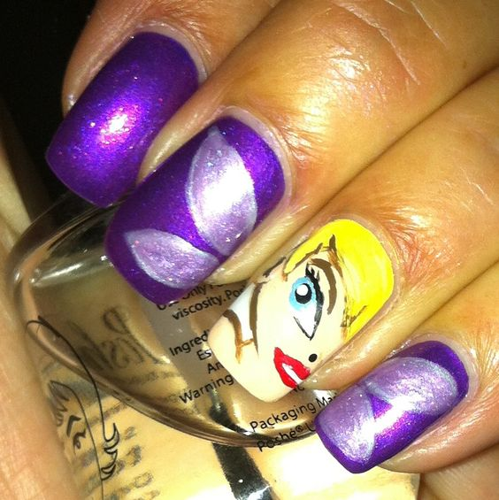 Tinkerbell Nails: Tinkerbell, Nails And My Nails On Pinterest