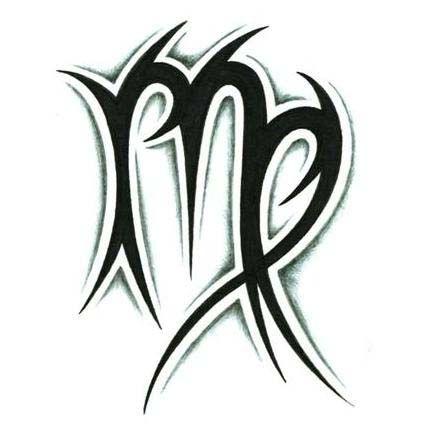 Tribal zodiac scorpio and aries tattoos virgo tattoos for Virgo tribal tattoo