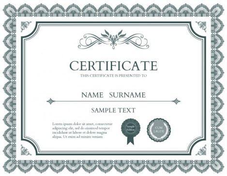 Plantilla Gratuita 6 De Diploma Titulo O Certificado Plantillas De Diplomas Diseno De Diplomas Diplomas Para Imprimir
