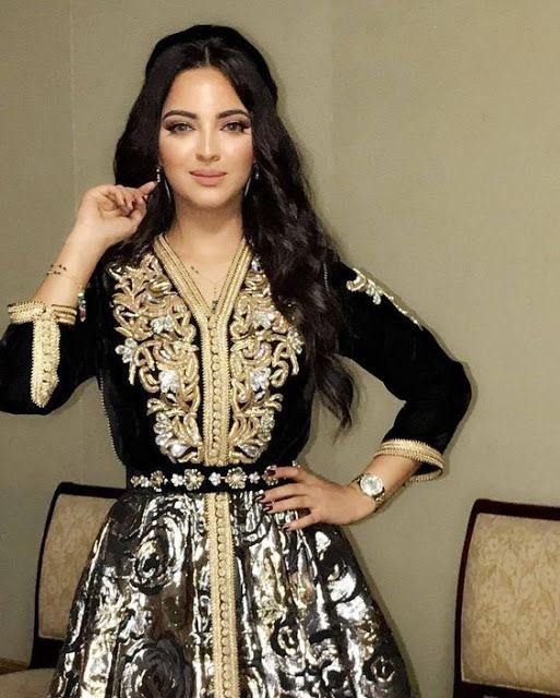 قفطان 2019 تشكيلة متنوعة من القفاطين باللون الأسود الملكي Mon Projet Couture Elegant Dresses For Women Oriental Fashion Moroccan Dress