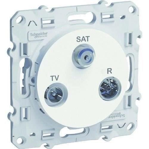 Schneider Electric Prise Tv Sat Fm Odace Sc5s52a461 Blanc Led 12v Ruban Led Et Amplificateur De Son