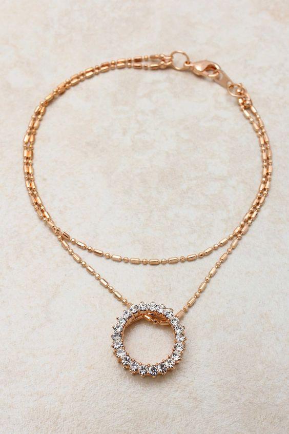 Rose Crystal Eternity Bracelet