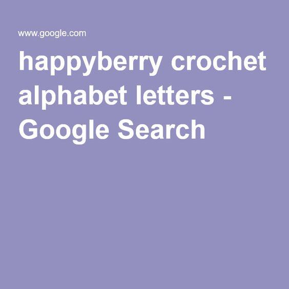 happyberry crochet alphabet letters - Google Search