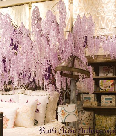 how to make paper wisteria- time consuming but beautiful effect and cheap