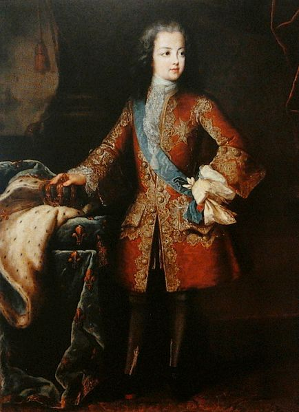 Louis XV at the age of 8, 1718 by Louis Rene Vialy