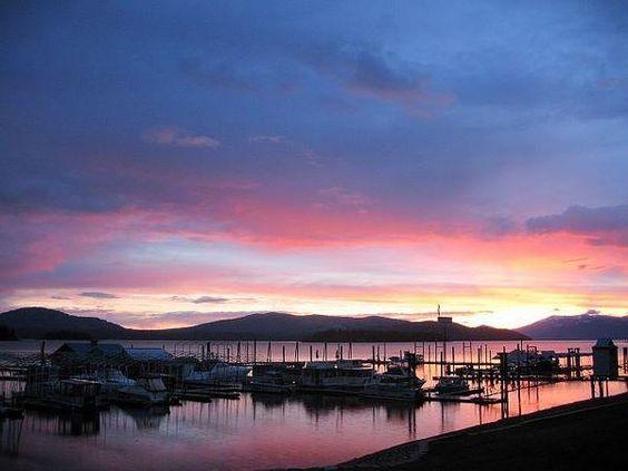 Sunset on Lake Pend Orielle