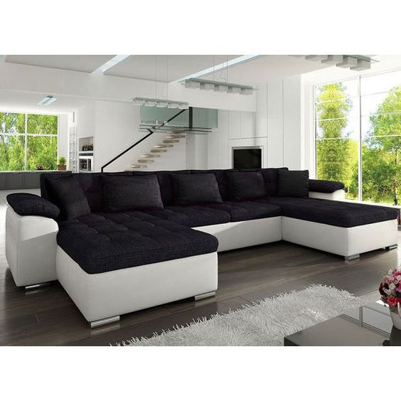 corner sofa bed wicenza sleep function faux leather fabric new https rh pinterest com