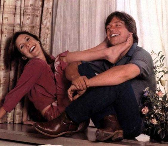 Carrie Fisher and Mark Hamill | Rare and beautiful celebrity photos: