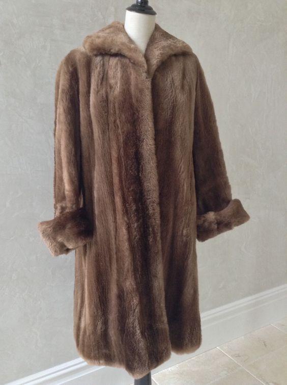 Nigbor Furs Sheared Beaver Coat   Resale Clothing   Pinterest