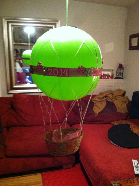medium inflatable hot air balloon hanging basket dc candy drops llc
