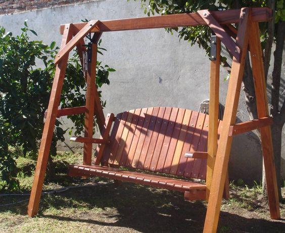 Como hacer un columpio de madera para jardin buscar con google banca pinterest b squeda - Columpio madera jardin ...
