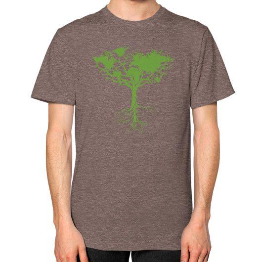 Earth tree Unisex T-Shirt (on man)