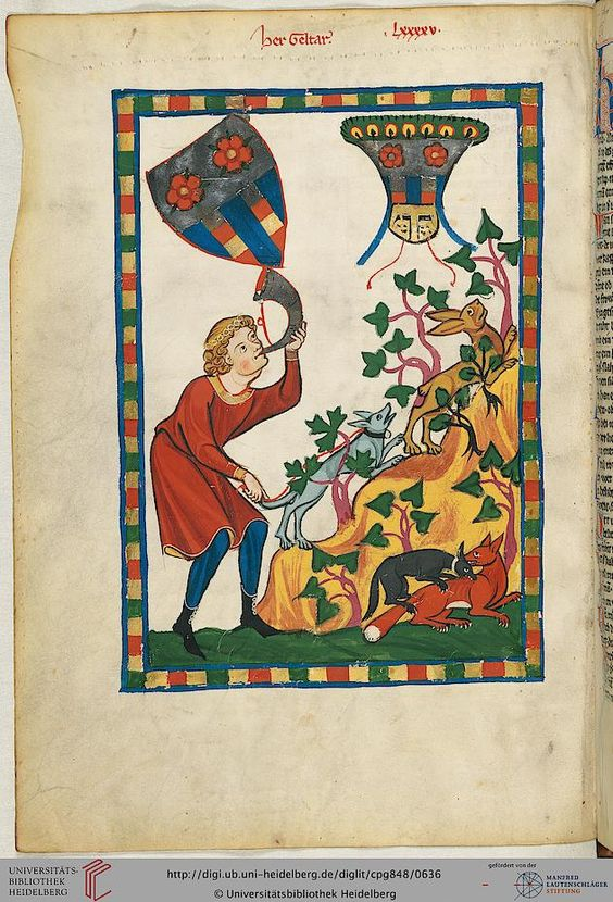 Cod. Pal. germ. 848: Große Heidelberger Liederhandschrift (Codex Manesse) (Zürich, ca. 1300 bis ca. 1340), Fol 320v
