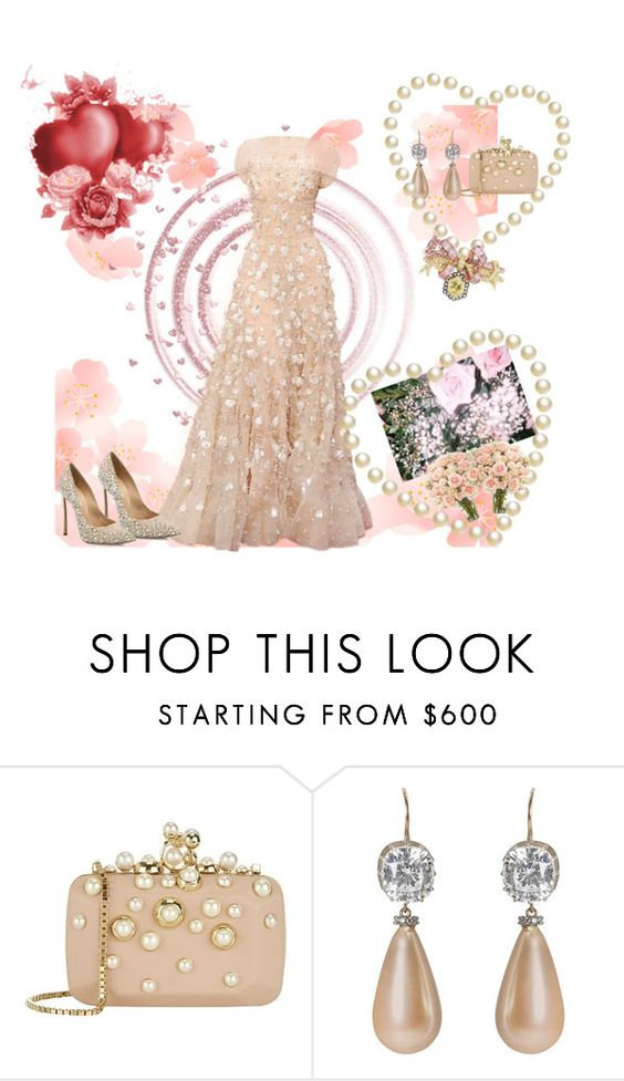 """""""Tournament of Roses"""" by atenaide86 ❤ liked on Polyvore featuring Elie Saab, Press and Casadei"""
