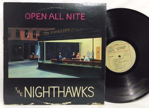 The Nighthawks Open All Night Vinyl Adelphi Records AD 4105 LP #Vinyl Record
