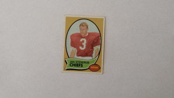 1970 Topps Jan Stenerud single football rookie card