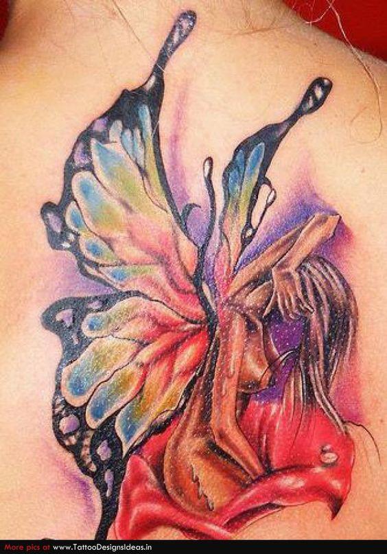 fairies tattoo fairies and flower tattoos on pinterest. Black Bedroom Furniture Sets. Home Design Ideas