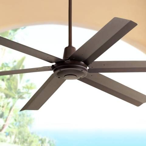 This Large Outdoor Ceiling Fan Comes In An Appealing Oil Rubbed Bronze Finish With Metal Blades Oil Ru Outdoor Ceiling Fans Ceiling Fan Ceiling Fan With Light