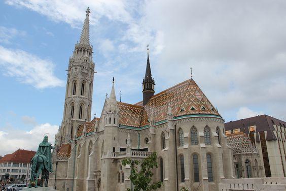 Matthias Church on Castle Hill Budapest.