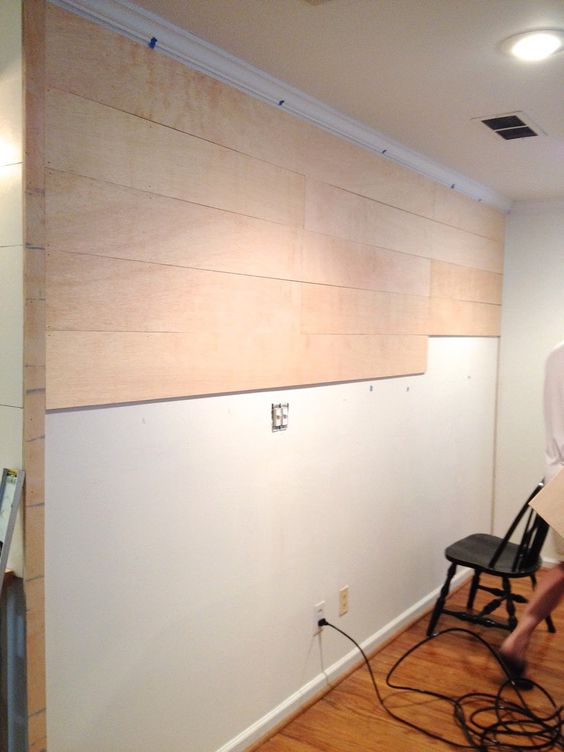 Planks done with 1 2 inch stain grade plywood Its easier