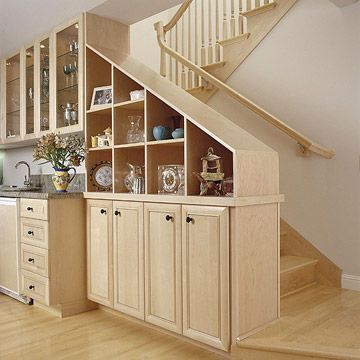 Use the Staircase Wall for Storage