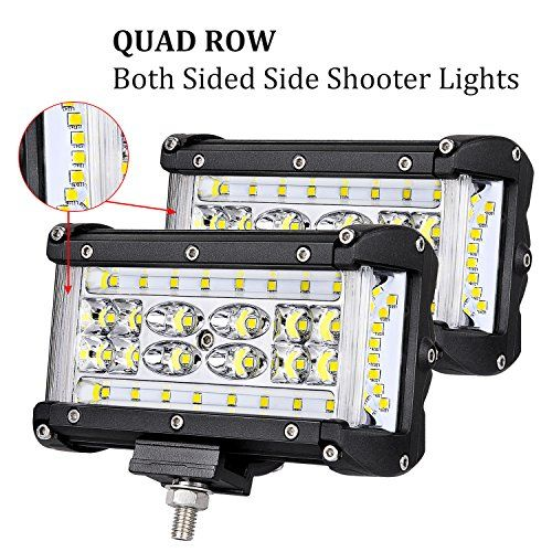 Quad Row Side Shooter Led Pods Offroadtown 5 176w Led Light Bar