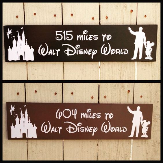 Love this set I did for a customer! She ordered one for herself and one for her best friend, with how close they were to Disney World. Too cute!! #disneyland #disneyworld #hpoe #customsigns #getemwhileyoucan