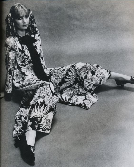 Nettie Vogues party pajamas photographed by Gene Venier for The Sunday Times Magazine (UK), 23rd April, 1967