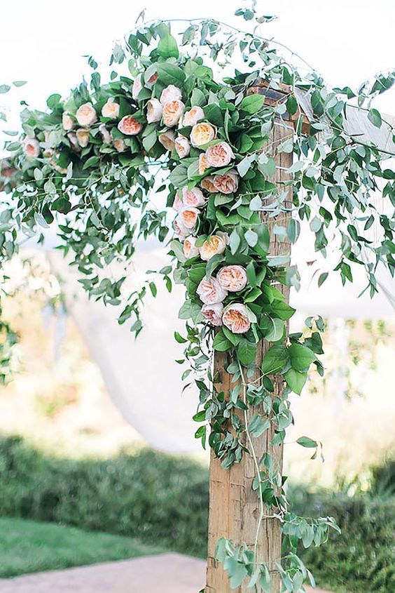 30 Floral Wedding Arch Decoration Ideas