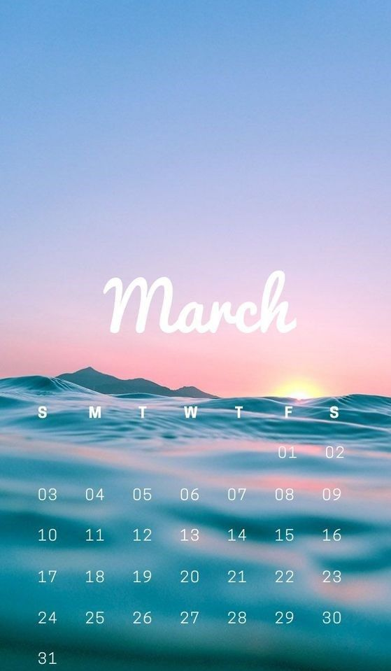 10 March Iphone Calendar Wallpaper Free With Images Calendar