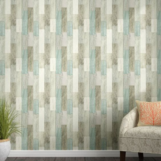 Chronister Coastal Weathered Plank 16 5 L X 20 5 W Wood And Shiplap Peel And Stick Wallpaper Roll Wood Wallpaper Peel And Stick Wallpaper Wallpaper Roll