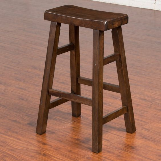 Sunny Designs Savannah 30 in. Saddle Seat Bar Stool - 1769AC