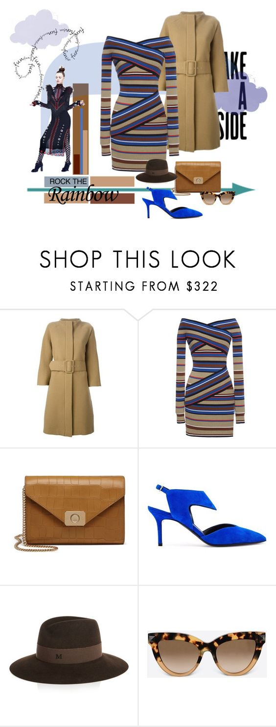 """""""Wrapped in Rainbows"""" by michelletheaflack ❤ liked on Polyvore featuring Gianluca Capannolo, MSGM, Mulberry, Nicholas Kirkwood, Maison Michel, Valentino, women's clothing, women's fashion, women and female"""