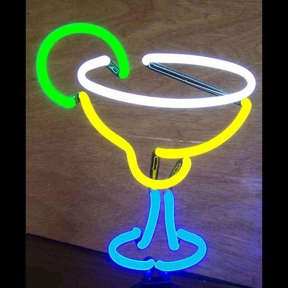 Neon Art: Margarita Neon Sculpture