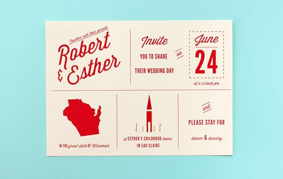 Wedding Invitation - Custom State and Symbol Wedding Invitation set (this is #2 right now, Ma)